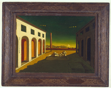 Giorgio de Chirico: Melancholia, 1916; oil on canvas; 20 x 26-1/2 in.; The Menil Collection, Houston.Photo: Hickey-Robertson, Houston